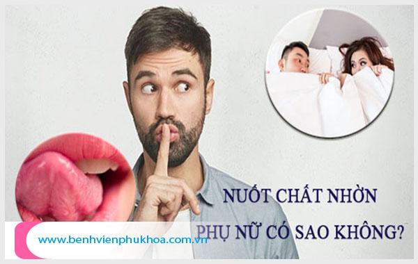 [TP.HCM] Nuốt chất nhờn của phụ nữ có sao không? Nhận biết bệnh lý qua mùi vị chất nhờn